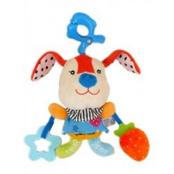 Plyšová hračka s hracím strojčekom Baby Mix Králiček červený