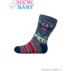 Dojčenské ponožky New Baby s ABS sivé yeti