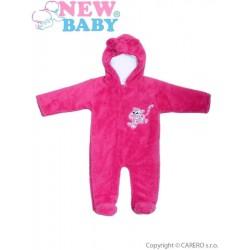 Zimný overal New Baby Leopardík ružový