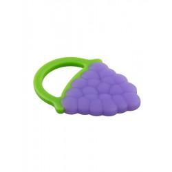 Detské silikónové hryzátko Akuku hrozno fialové