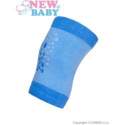 Detské nákolenníky New Baby s ABS modré
