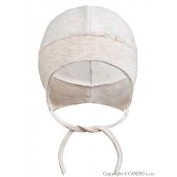 Semišová dojčenská čiapočka Baby Service béžova