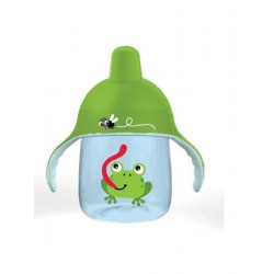 Kúzelný hrnček Avent Premium žaba 260 ml zelený