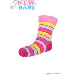 Dojčenské pruhované ponožky New Baby rôzne farby