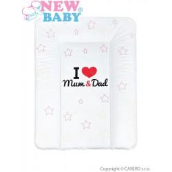 Prebaľovacia podložka mäkká New Baby I love Mum and Dad biela 70x50cm