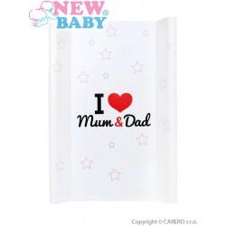 Prebaľovacia podložka New Baby I love Mum and Dad biela 70x50cm