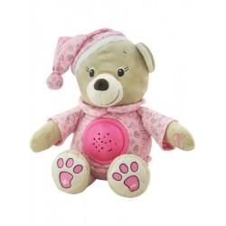 Plyšový medvedík s projektorom Baby Mix ružový