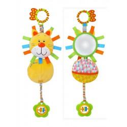 Detská hračka s vibráciou Baby Mix Lev žltá