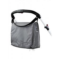 Taška na kočík s prebaľovacou podložkou CARETERO dark grey