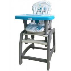 Jedálenská stolička Baby Mix 2v1 modrá
