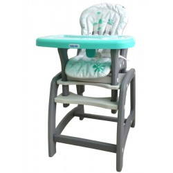 Jedálenská stolička Baby Mix 2v1 zelená