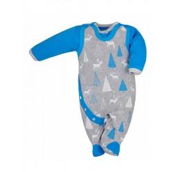 2-dielná dojčenská súprava Koala Srnček sivo-modrá