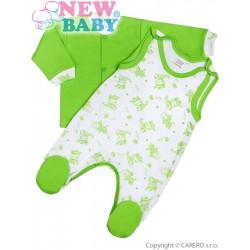 2-dielna dojčenská súprava New Baby Zebrababy II zelená