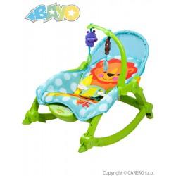 Detské lehátko 2v1 Bayo green