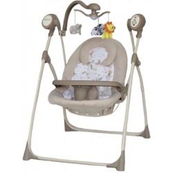 Detské ležadlo s houpátkom kolotočom a ovládačom Baby Mix beige