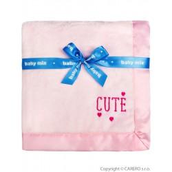 Detská plyšová deka Baby Mix Cute ružová