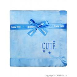 Detská plyšová deka Baby Mix Cute modrá