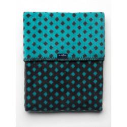 Detská bavlnená deka so vzorom Womar 75x100 grafitovo-tyrkysová