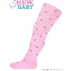 Bavlnené pančucháče 3D New Baby svetlo ružové