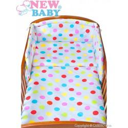 6-dielne posteľné obliečky New Baby 90/120 cm bodky sivé