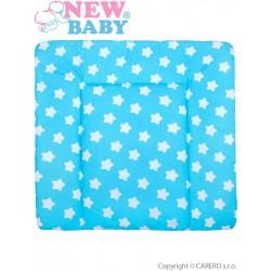 Bavlnená prebaľovacia podložka 70x65 New Baby hviezdičky tyrkysová