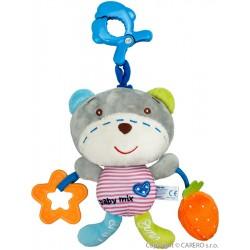 Detská plyšová hračka so zvukom Baby Mix macko