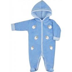 Zimná dojčenská kombinéza Bobash Fashion Ovečky modrá