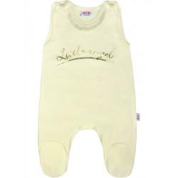 Dojčenské bavlnené dupačky New Baby Angel béžové