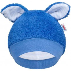 Zimná dojčenská čiapočka New Baby Ušiačik modrá