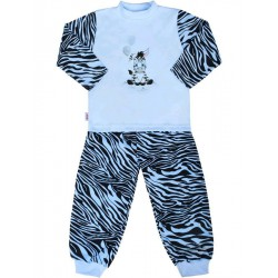 Detské bavlnené pyžamo New Baby Zebra s balónikom modré