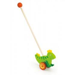 Drevená jazdiaca hračka Viga dinosaurus