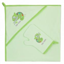 Detská osuška s žinkou Bobas Fashion Chameleon zelená