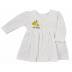 Dojčenské semiškové šatôčky Koala Golden Heart krémové zlaté srdce