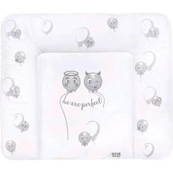 Prebaľovacia podložka mäkká New Baby Emotions biela 85x70 cm