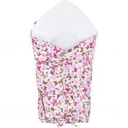 Klasická šnurovacia zavinovačka New Baby ružové motýle