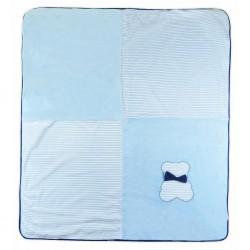 Detská deka Koala Mozaika modrá