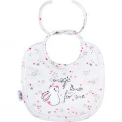 Dojčenský podbradník New Baby Magic Star ružový