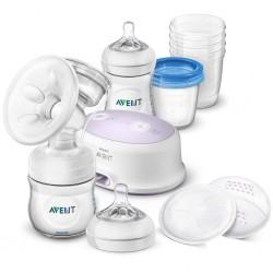 Elektronická odsávačka Avent Natural + sada na dojčenie