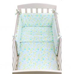 3-dielne posteľné obliečky New Baby 90/120 cm modré motýle