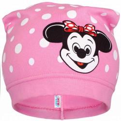 Jarná detská čiapočka New Baby myška ružová