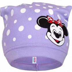 Jarná detská čiapočka New Baby myška fialová
