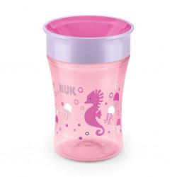 Detský hrnček Magic NUK 360 ° ružový