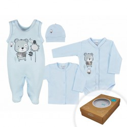 dojčenská súprava modrá bavlnená 56