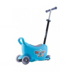 Detské odrážadlo s vodiacou tyčou Snoop 3v1 Milly Mally blue