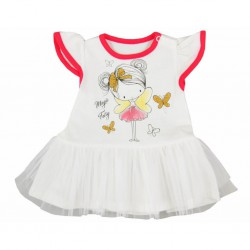 Dojčenské letné šatôčky Koala Magic Fairy červené