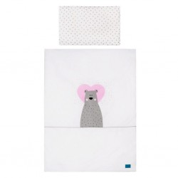 2-dielne posteľné obliečky Belisima Bear in love 100/135 ružové