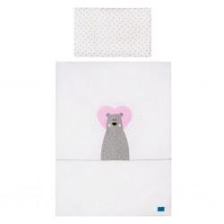 3-dielne posteľné obliečky Belisima Bear in love 100/135  ružové