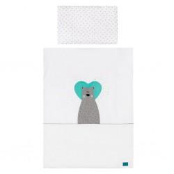 5-dielne posteľné obliečky Belisima Bear in love 100/135 tyrkysové