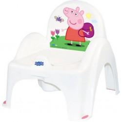 Detský nočník s poklopom Prasiatko Peppa white-pink