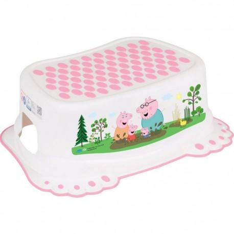 Detské protišmykové stúpadlo do kúpeľne Prasiatko Peppa white-pink